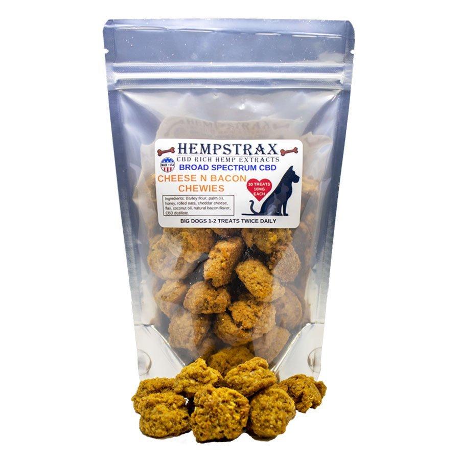 Hempstrax Cheese and Bacon CBD Dog Treats