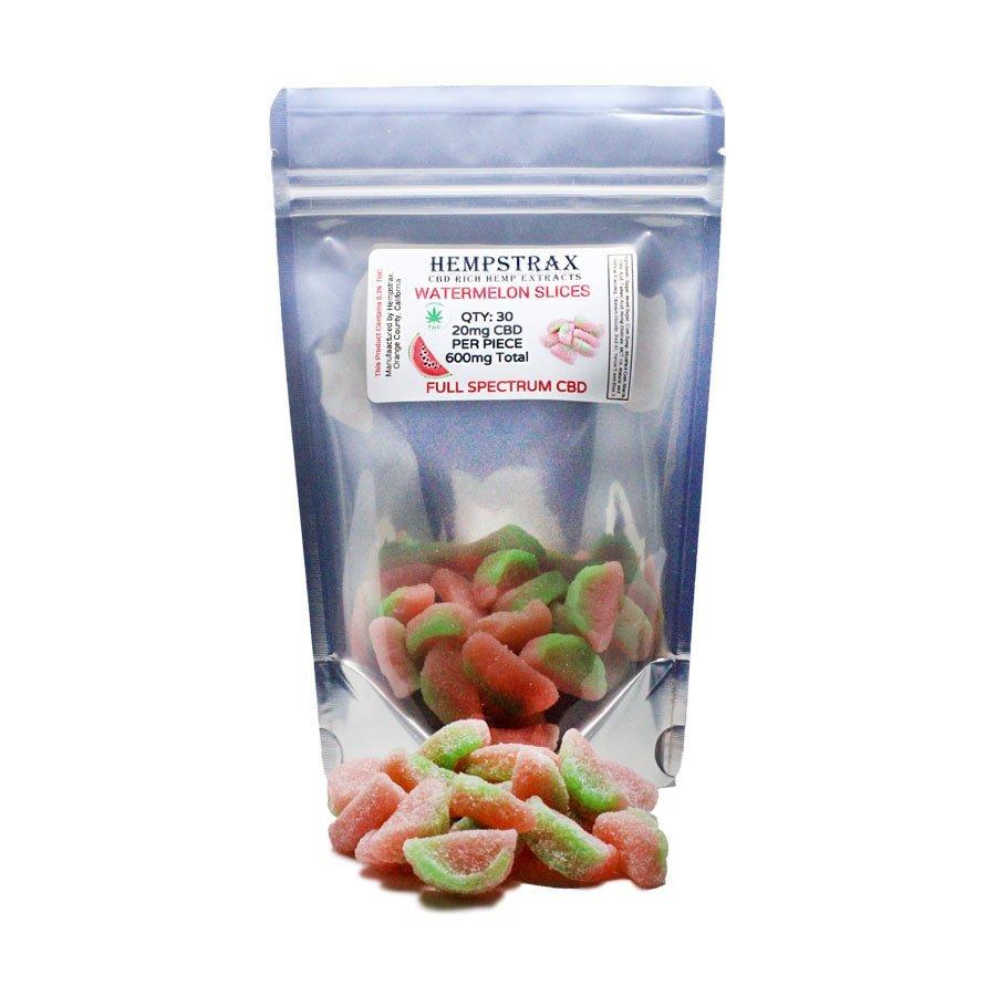 Hempstrax Vegan CBD Watermelon Gummies