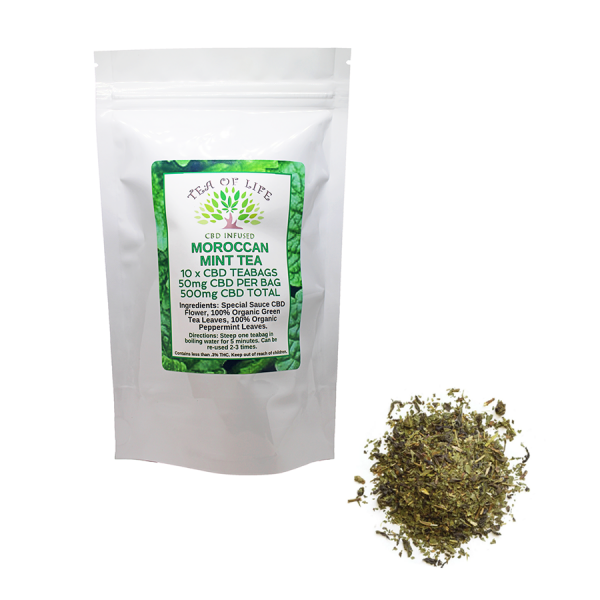 moroccan mint cbd tea