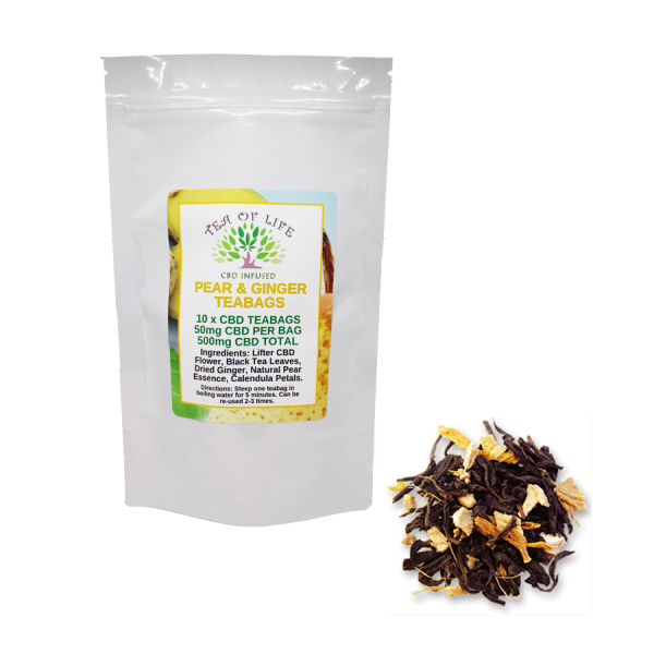 pear & ginger cbd teabags