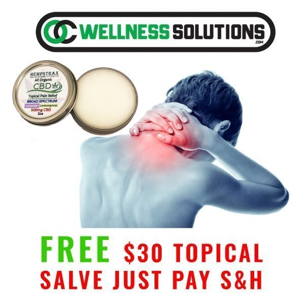free CBD salve promotion
