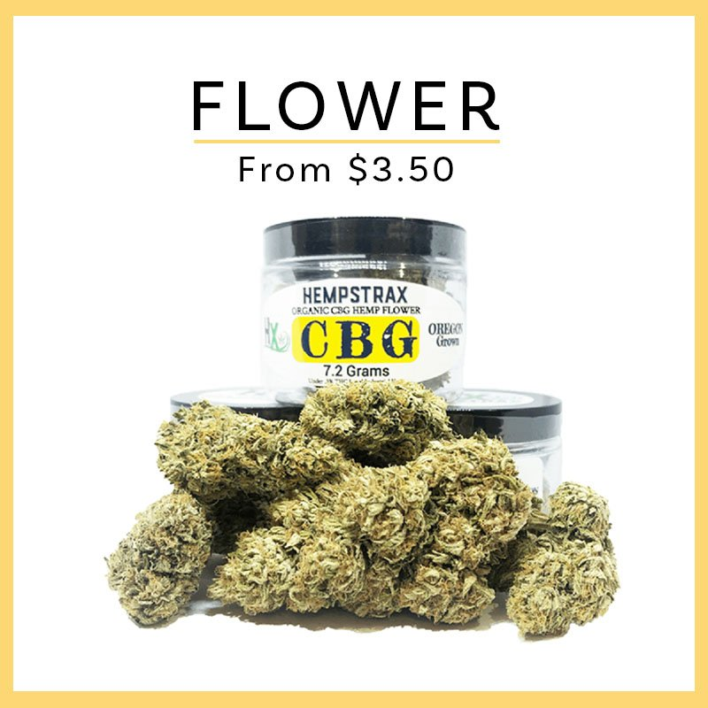 Hempstrax CBD Flower and CBG Flower Ordering
