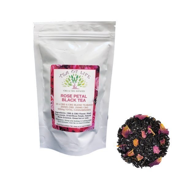 Rose Petal Black CBD Tea