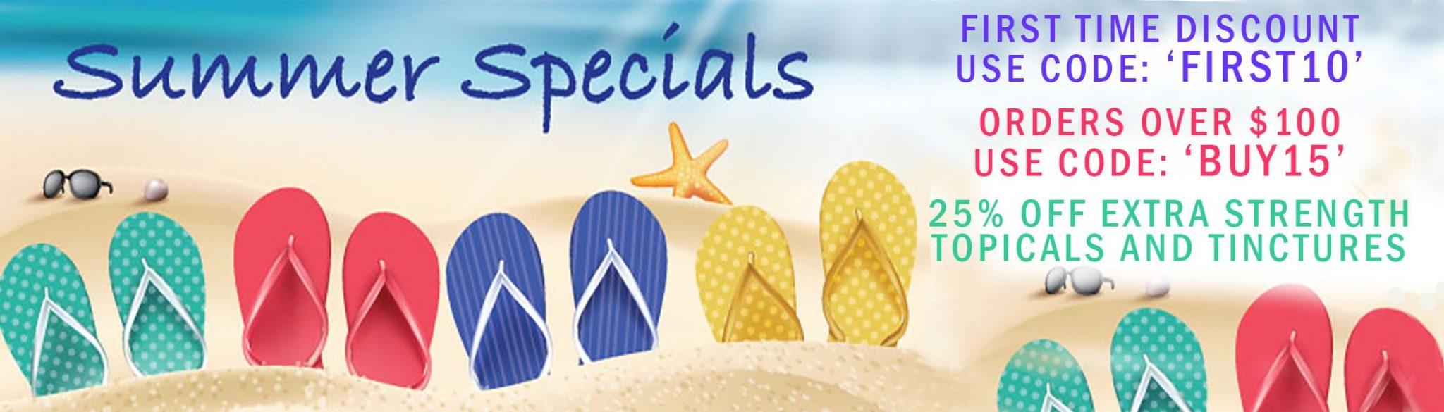 Summer CBD Specials and Sales