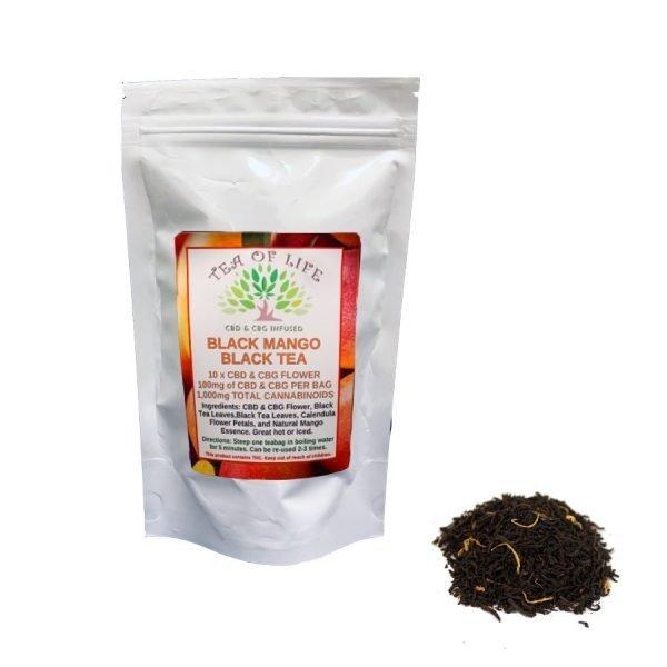 Hempstrax Black Mango CBD Tea