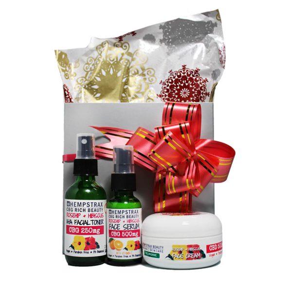 Hempstrax Beauty CBD Skincare Trio GiftSet