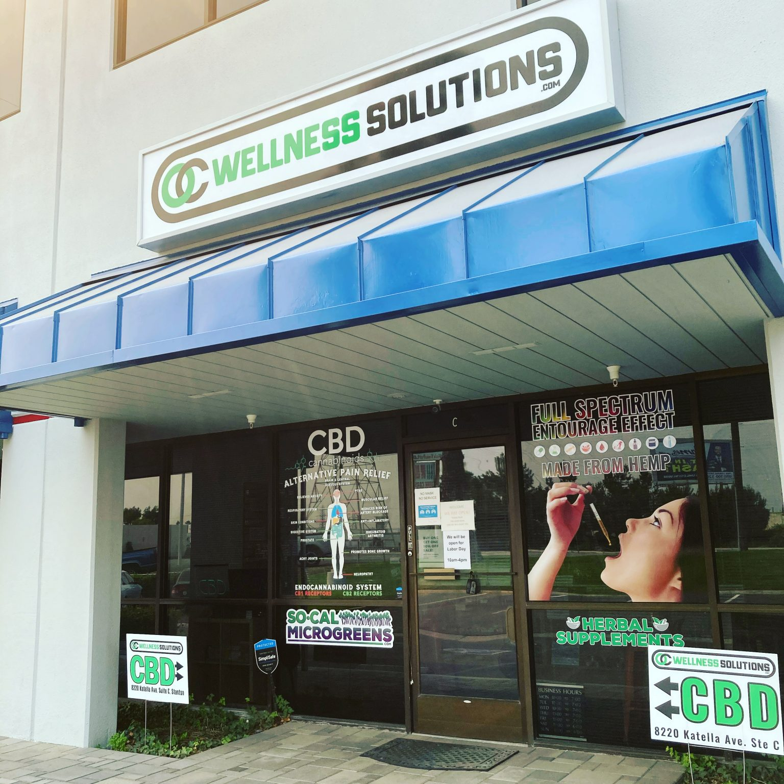 CBD OC Wellness Solutions Storefront in Stanton, California