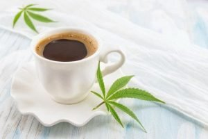 Cup of coffee with CBD added