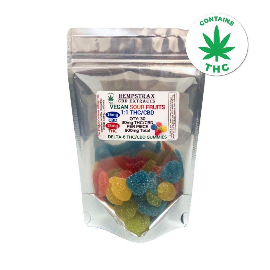 Hempstrax Delta 8 THC / CBD 1:1 Gummies