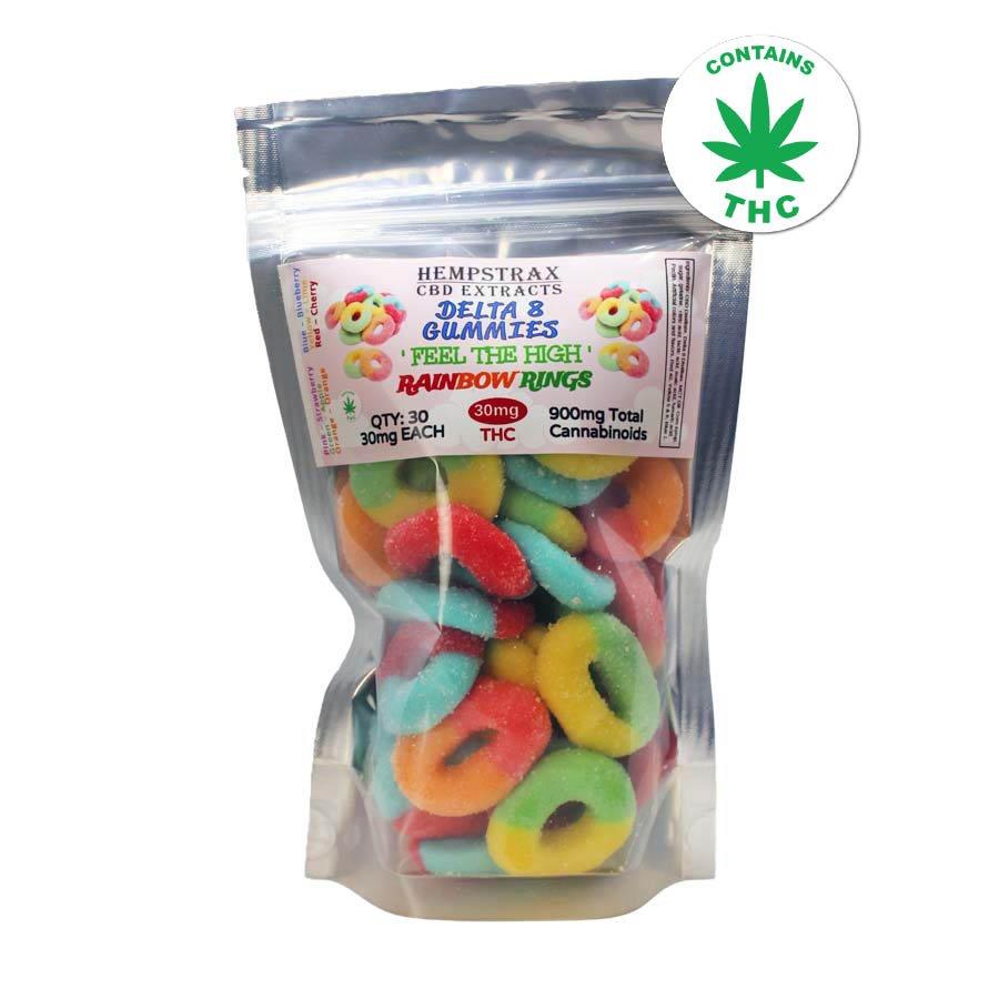 Hempstrax Delta 8 THC Rainbow Rings