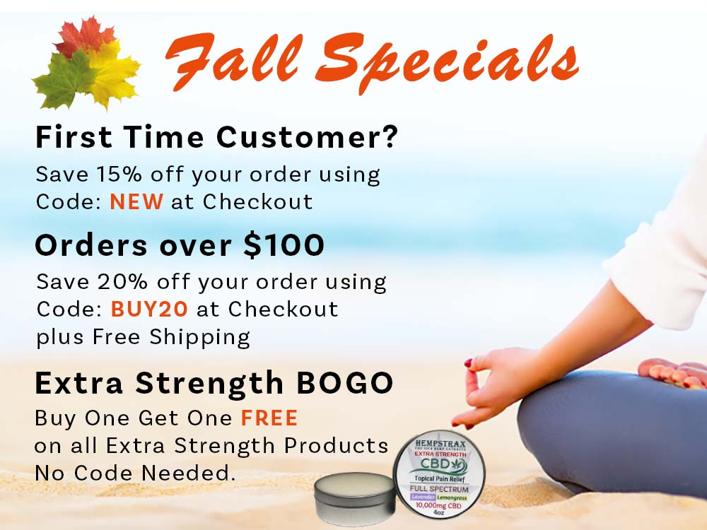 Hempstrax Fall 2021 Specials and Coupons